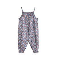 Mango Kids baby jumpsuit met all over print blauw/rood
