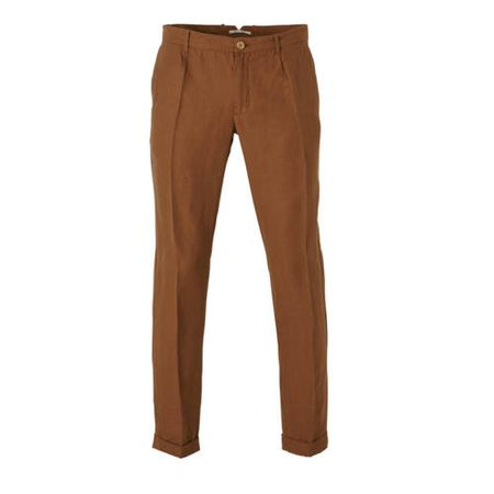 Mango Man regular fit chino met linnen