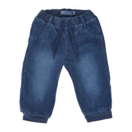 name it  Boys Corduroy broek Mikkel donker denim Mikkel donker denim - Blauw - Gr.Pasgeborene (0 - 6 jaar) - Jongen