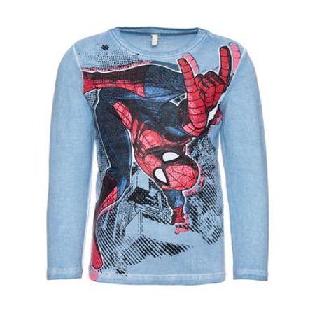 name it  Boys Longsleeve Spiderman ashley blauw - Blauw - Gr.Babymode (6 - 24 maanden) - Jongen