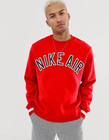 Nike - Air - Fleecetrui met ronde hals in rood