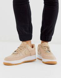 Nike - Air Force 1 '07 - Beige premium sneakers met rubberzool