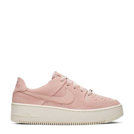 Nike Air Force 1 Sage Low plateau sneakers roze