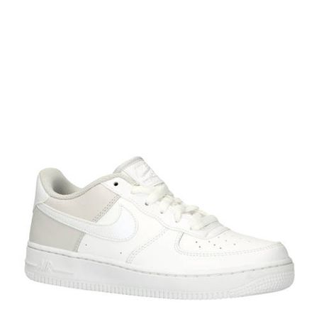 low priced 022d7 e1214 Nike Air Force 1 sneakers wit lichtgrijs