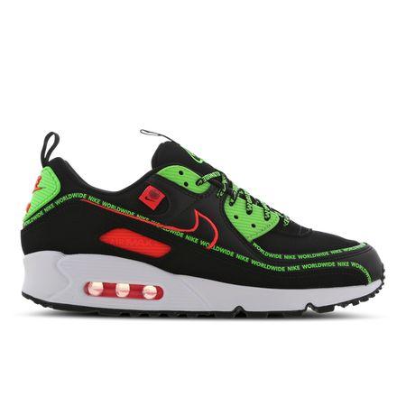 Nike Air Max 90 - Heren Schoenen - Black - Textil, Leer - Maat 43 - Foot Locker