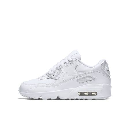 Nike Air Max 90 Leather Kinderschoen - Wit