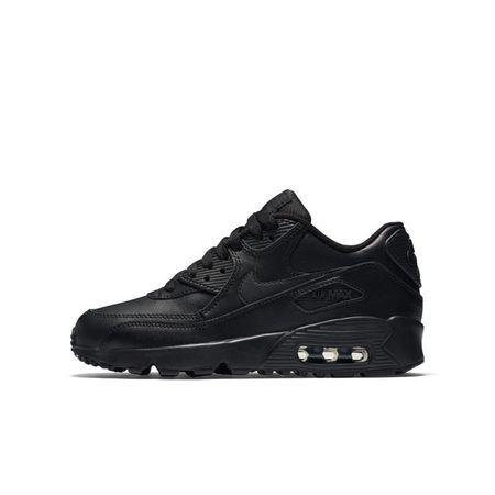 Nike Air Max 90 Leather Kinderschoen - Zwart