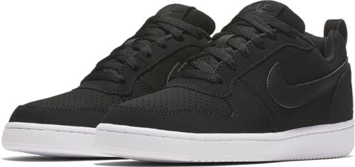 Nike Court Borough Low Sneakers Dames - Black/Black-White