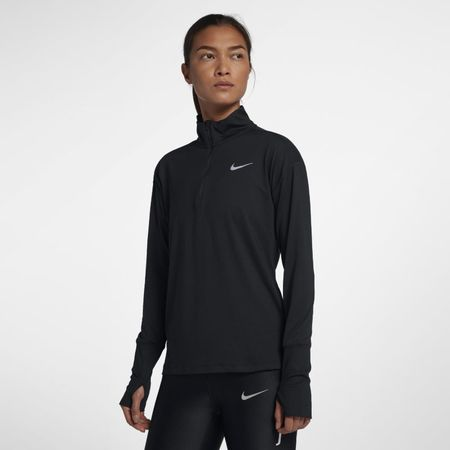 Nike Hardlooptop met halflange ritssluiting voor dames - Zwart