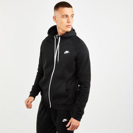Nike Modern Fleece Full Zip - Heren Hoodies - Black - 71% Katoen, 29% Polyester - Maat S - Foot Locker