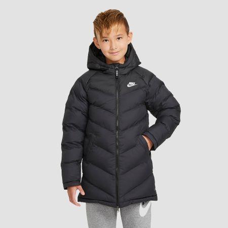 Nike nike sportswear synthetic fill long winterjas zwart kinderen