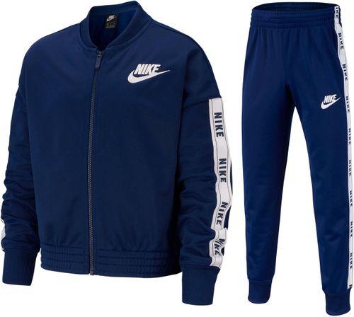 Nike Nsw Trk Suit Tricot Meisjes Trainingspak - Blue Void/White/Blue Void/(White) -  XL