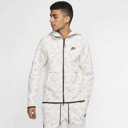 Nike Sportswear Tech Fleece Hoodie met rits en print voor heren - Wit