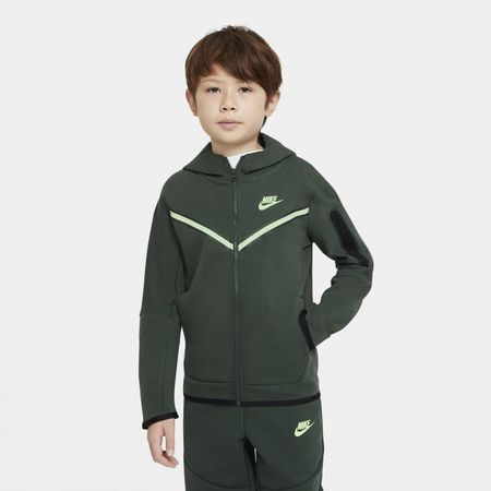 Nike Sportswear Tech Fleece Hoodie met rits voor jongens - Groen