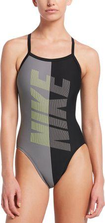Nike Swim Racerback One Piece Dames Badpak - Black