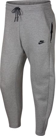 Nike Tech Fleece Pant OH Joggingsbroek Heren - Dk Grey Heather/Dark Grey/(Bla - Maat L