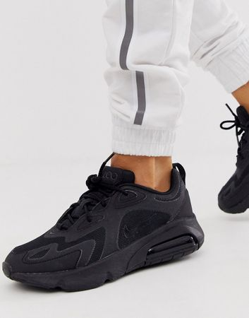 Nike - Triple Black Air Max - 200 Sneakers-Zwart