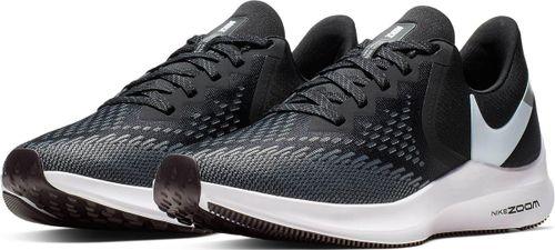 Nike Wmns Zoom Winflo 6 Dames Sportschoenen - Black/White-Dk Grey-Mtlc Platinum
