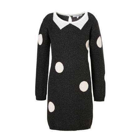 Noppies jurk Westwood met stippen grijs