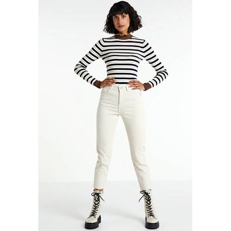 ONLY straight fit jeans ONLEMILY ecru