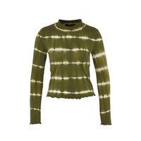 ONLY tie-dye longsleeve groen/ecru