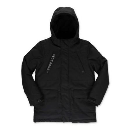Padded parka jacket with hood