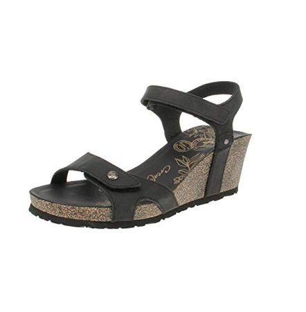 Panama Jack Julia Basics Open Wedge Sandalen voor dames, Zwart