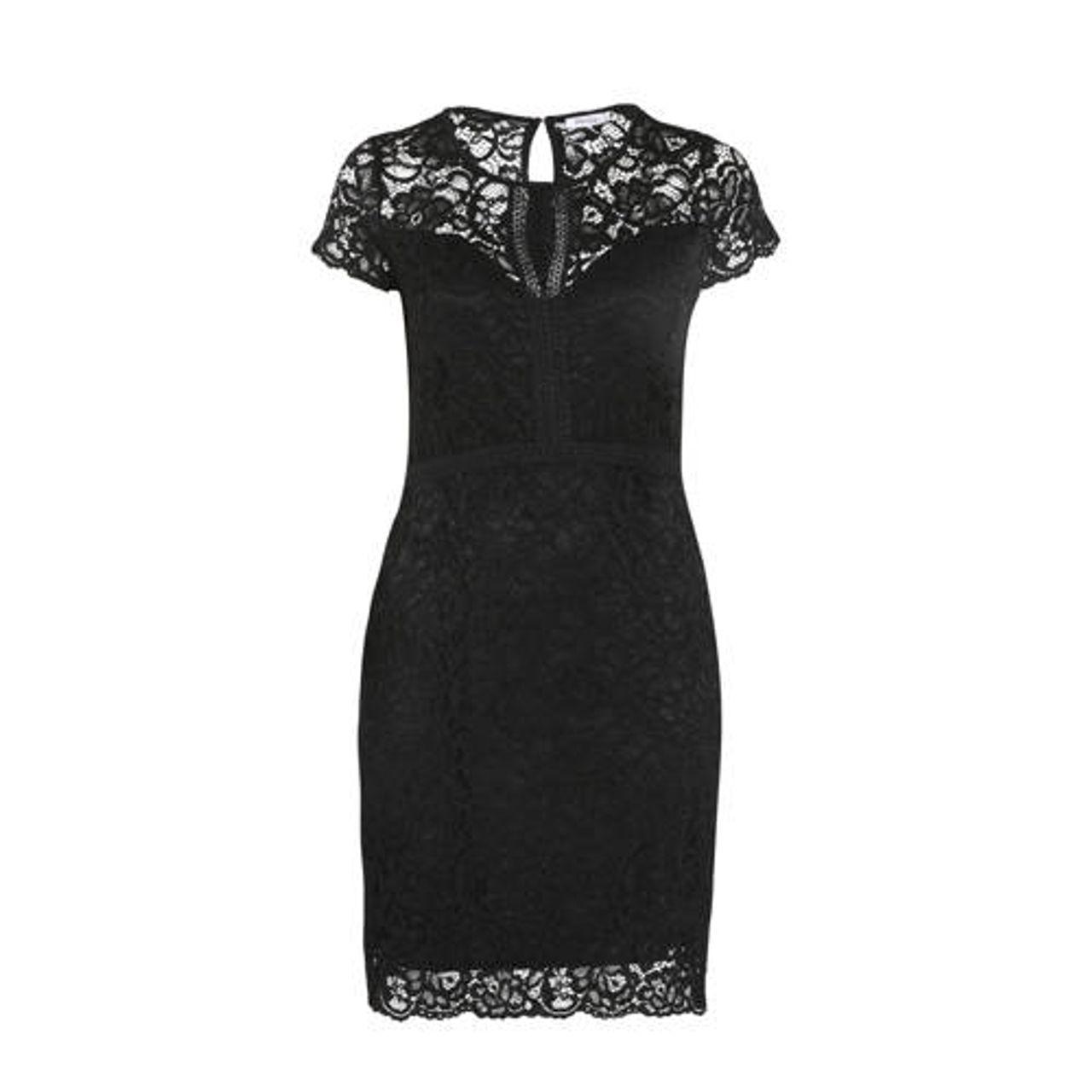 Nieuw Paprika Kanten jurk zwart - Vergelijk prijzen YE-16