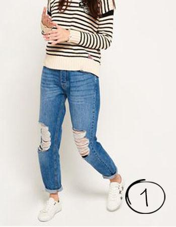 jeans voor platte billen