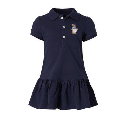 POLO Ralph Lauren jurk met borduursels donkerblauw
