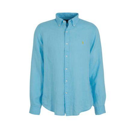 POLO Ralph Lauren linnen slim fit overhemd turquoise