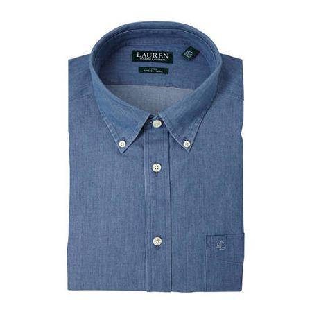 POLO Ralph Lauren regular fit overhemd denim blauw