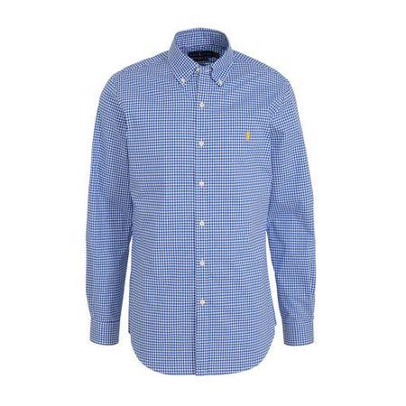 POLO Ralph Lauren slim fit overhemd met all over print blauw/wit