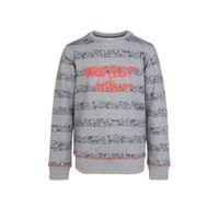 Protest gestreepte sweater Keanu JR grijs/donkerblauw/rood