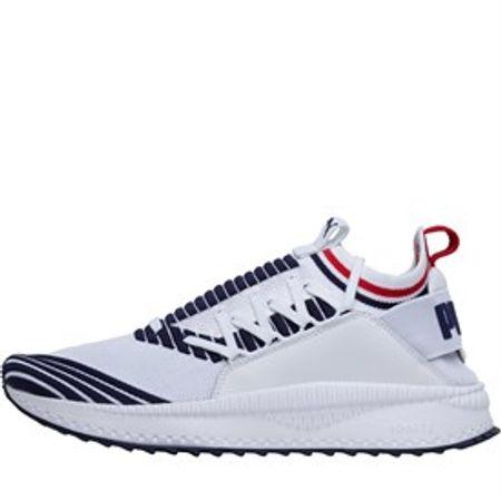 Puma Heren Tsugi Jun Sport Stripes Sneakers Wit