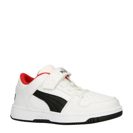 Puma Rebound Layup Lo SL V PS sneakers wit/zwart/rood