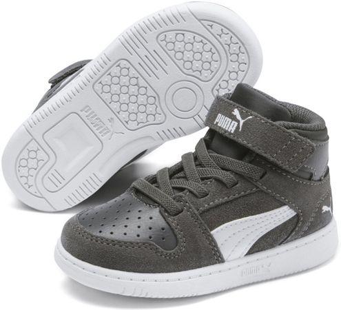 PUMA Rebound Layup SD V Inf Sneakers Kinderen - CASTLEROCK-Puma White-Steel Gray
