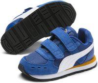 PUMA Vista V Inf Sneakers Kinderen - Galaxy Blue-Puma White-Golden Orange