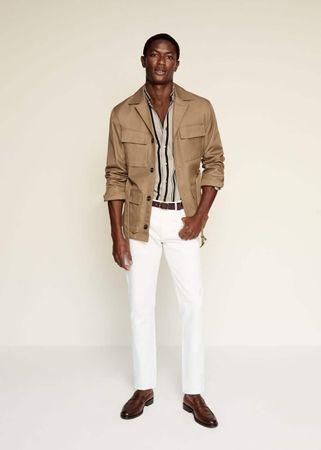 Regular-fit overhemd met maokraag