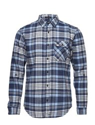 Relaxed Fit Brushed Check Shirt With Tonal Inside