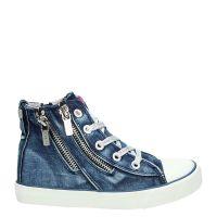 Replay Warden hoge sneakers blauw