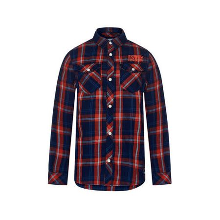 Retour Denim geruit overhemd Vic donkerblauw/rood