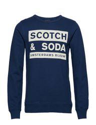 Scotch And Soda Ams Blauw Graphic Sweat