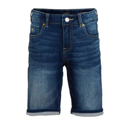 Scotch & Soda Amsterdams Blauw jeans bermuda Strummer stonewashed denim