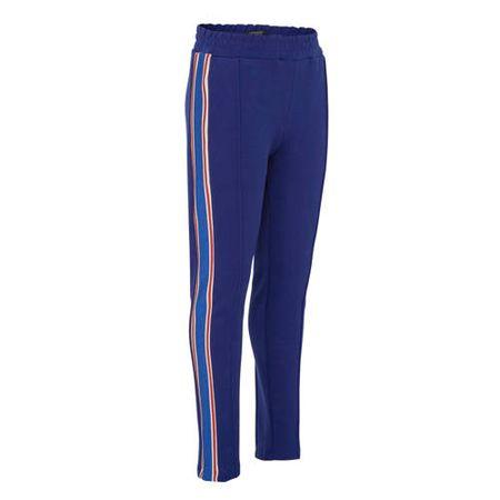 Scotch & Soda Amsterdams Blauw regular fit broek met zijstreep blauw/rood/wit