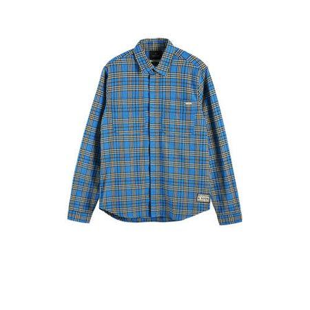 Scotch & Soda geruit regular fit overhemd blauw