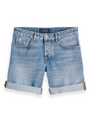 Scotch & Soda Korte Broek Jeans Licht Blauw   33