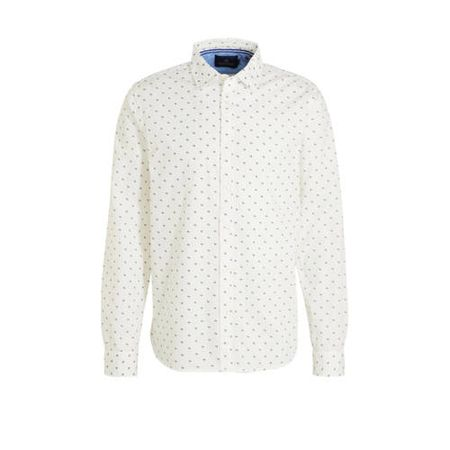 Scotch & Soda regular fit overhemd met all over print wit
