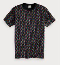 Scotch & Soda T-shirt Print Hoedjes Zwart   2XL