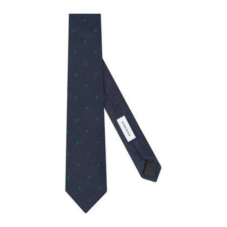 Seidensticker zijden stropdas donkerblauw
